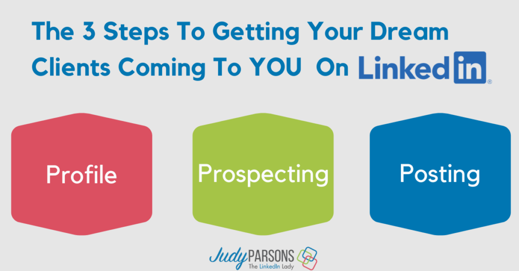 3 steps to getting your dream clients coming to you on LinkedIn